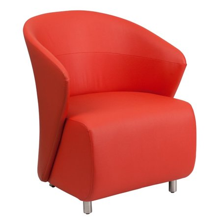 Flash Furniture Leather Reception Chair in Red