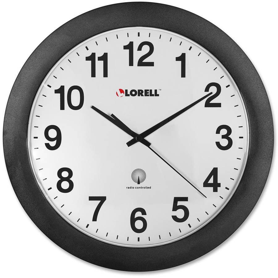 "Lorell 12"" Radio Controlled Wall Clock"
