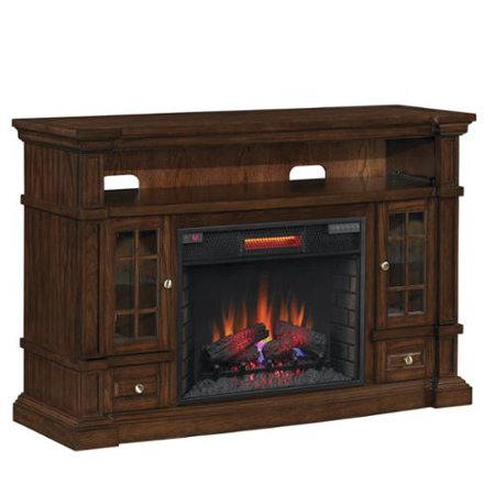 twin star international classicflame 74938 caramel oak belmont tv stand for tvs up to 65 inches. Black Bedroom Furniture Sets. Home Design Ideas