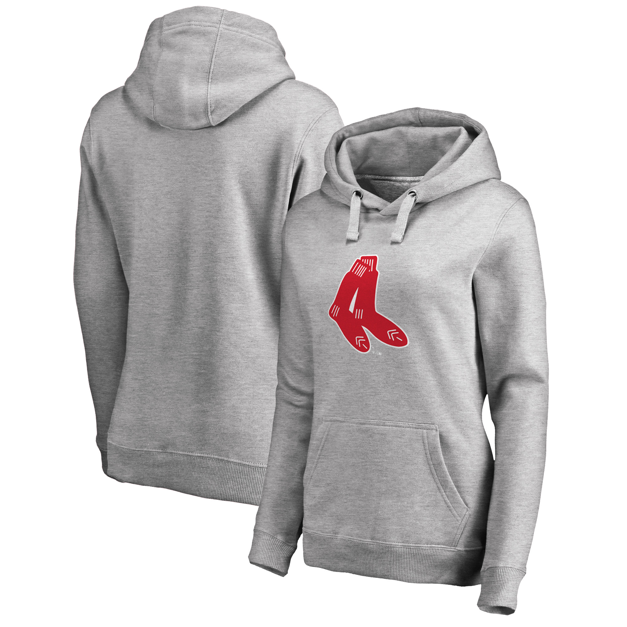 Boston Red Sox Fanatics Branded Women's Cooperstown Collection Huntington Pullover Hoodie - Heathered Gray