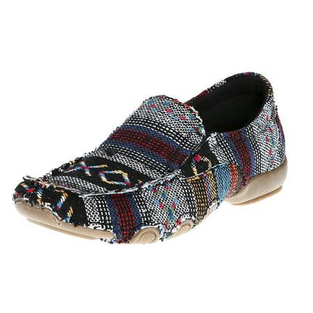 roper footwear womens  liza southwest driving - Multi Fabric Footwear