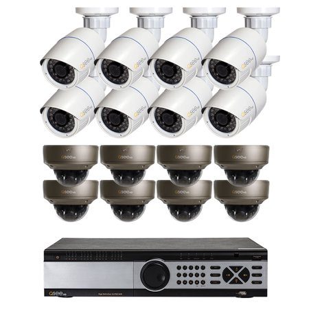 32 CHANNEL IP NVR WITH 8 X 4MP BULLET CAMERAS AND 8 X 4MP DOME CAMERAS, 4TB HDD