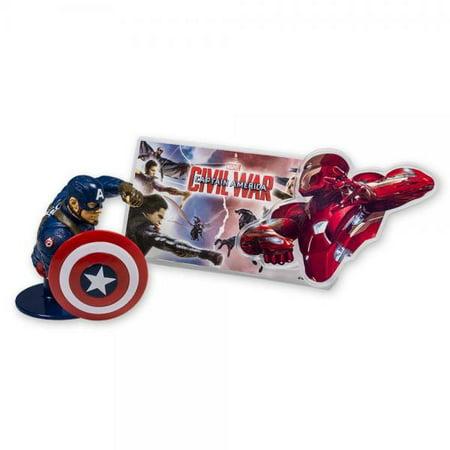 DecoPac Captain America: Civil War DecoSet Cake Topper - Captain America Cake Topper