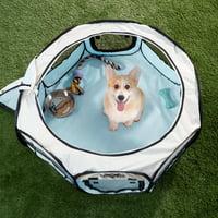 Petmaker Portable Pet Playpen 33 in., Blue