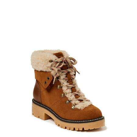 Time and Tru Women's Cozy Hiker Boot (Wide Width Available)