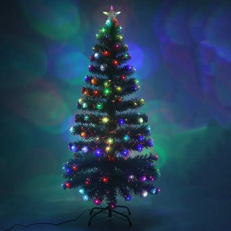 colorful xmas tree led decorative white pine fibre optic christmas tree