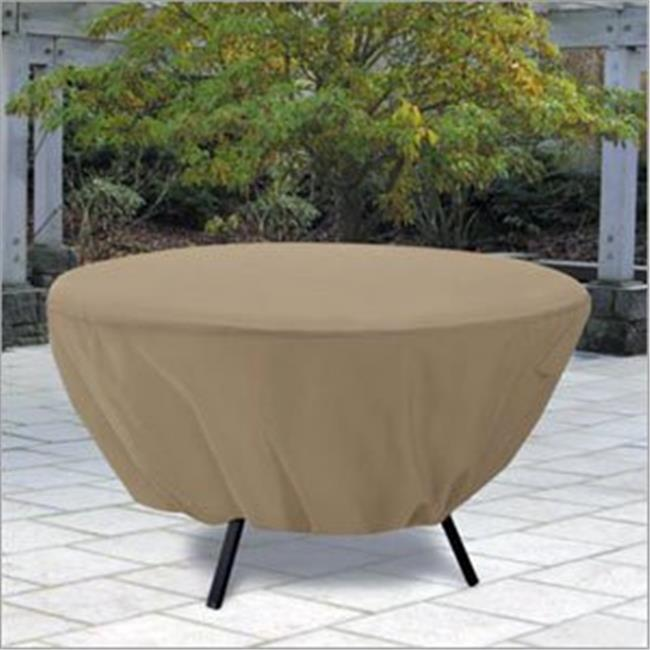 Patio Table Cover Round - Tan