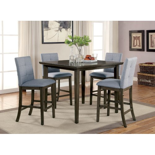 Red Barrel Studio Hann Wooden 5 Piece Counter Height Dining Table Set