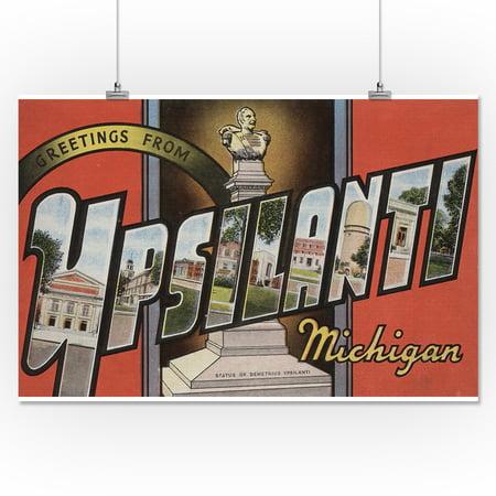 Greetings From Ypsilanti Michigan 16x24 Giclee Gallery