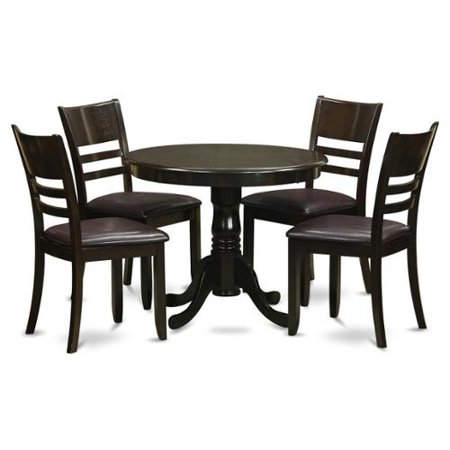 East west furniture 5 piece kitchen table set and 4 for Naaptol kitchen set 70 pieces