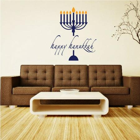 Hanukkah Menorah - Vinyl Decal - Car Decal - mv009 - 36 Inches ()