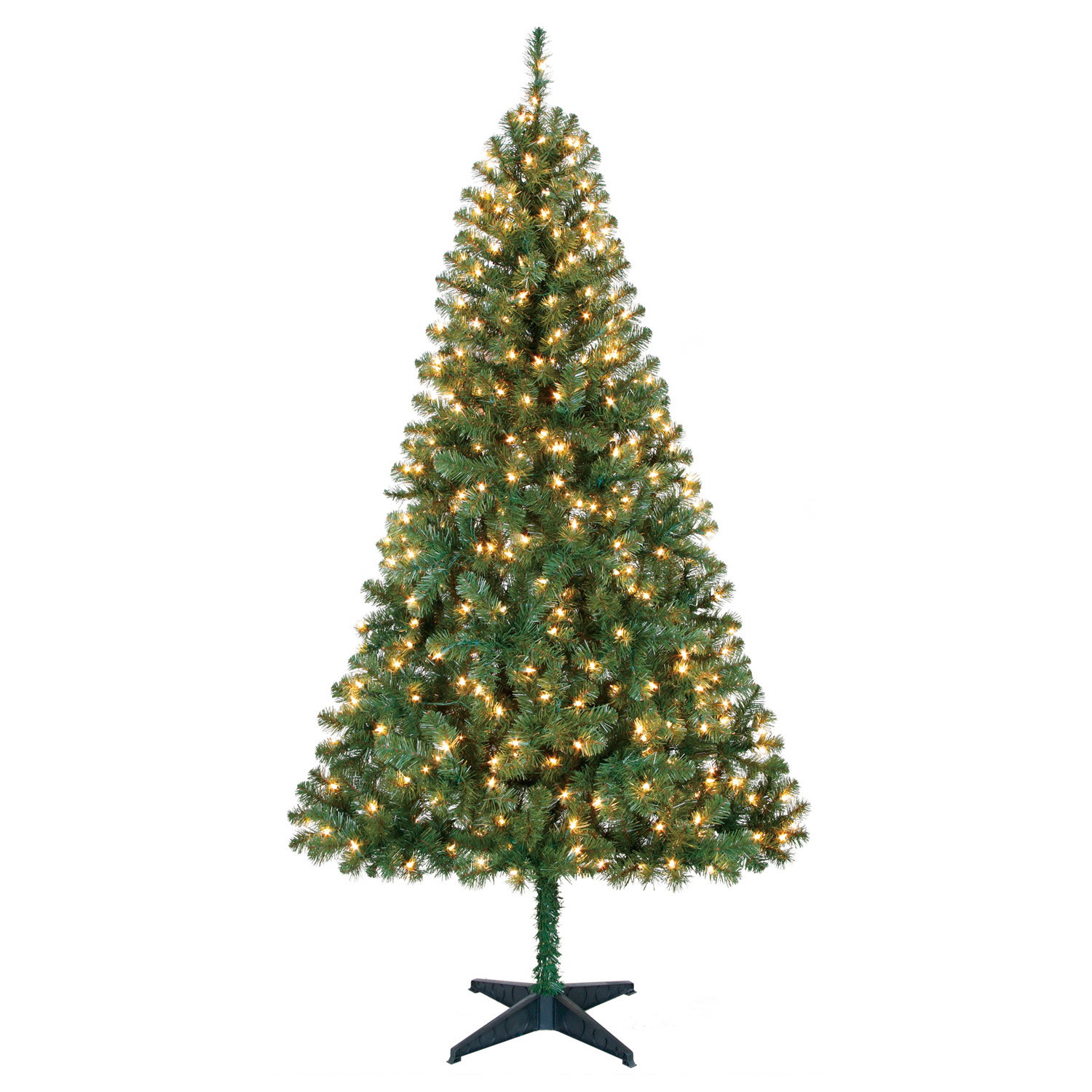 Holiday Time 6.5ft Pre-Lit Madison Pine Artificial Christmas Tree with 350 Clear-Lights - Green