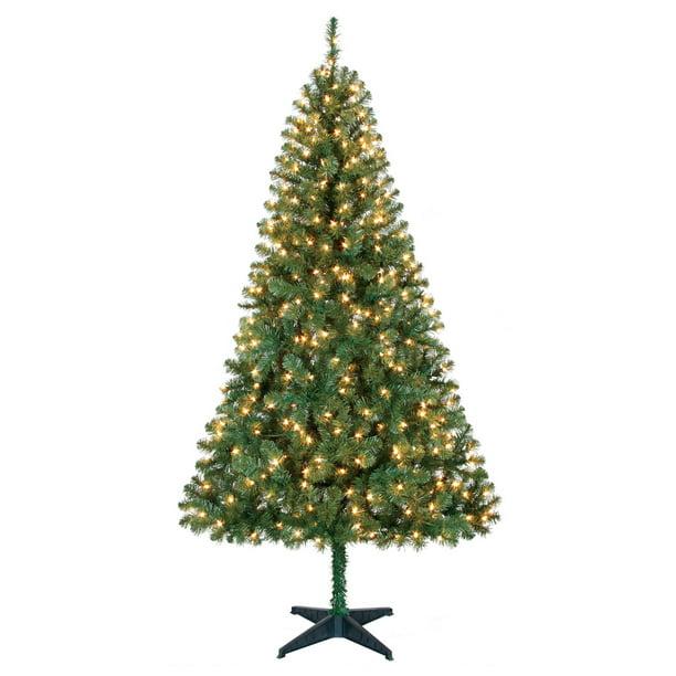 Green Holiday Time 6.5 Feet Pre-Lit Sonoma Pine Christmas Tree