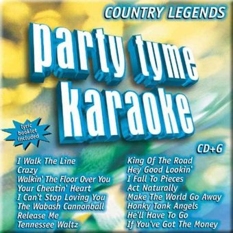 Party Tyme Karaoke: Country Legends (CD) (Best Country Music Of All Time)