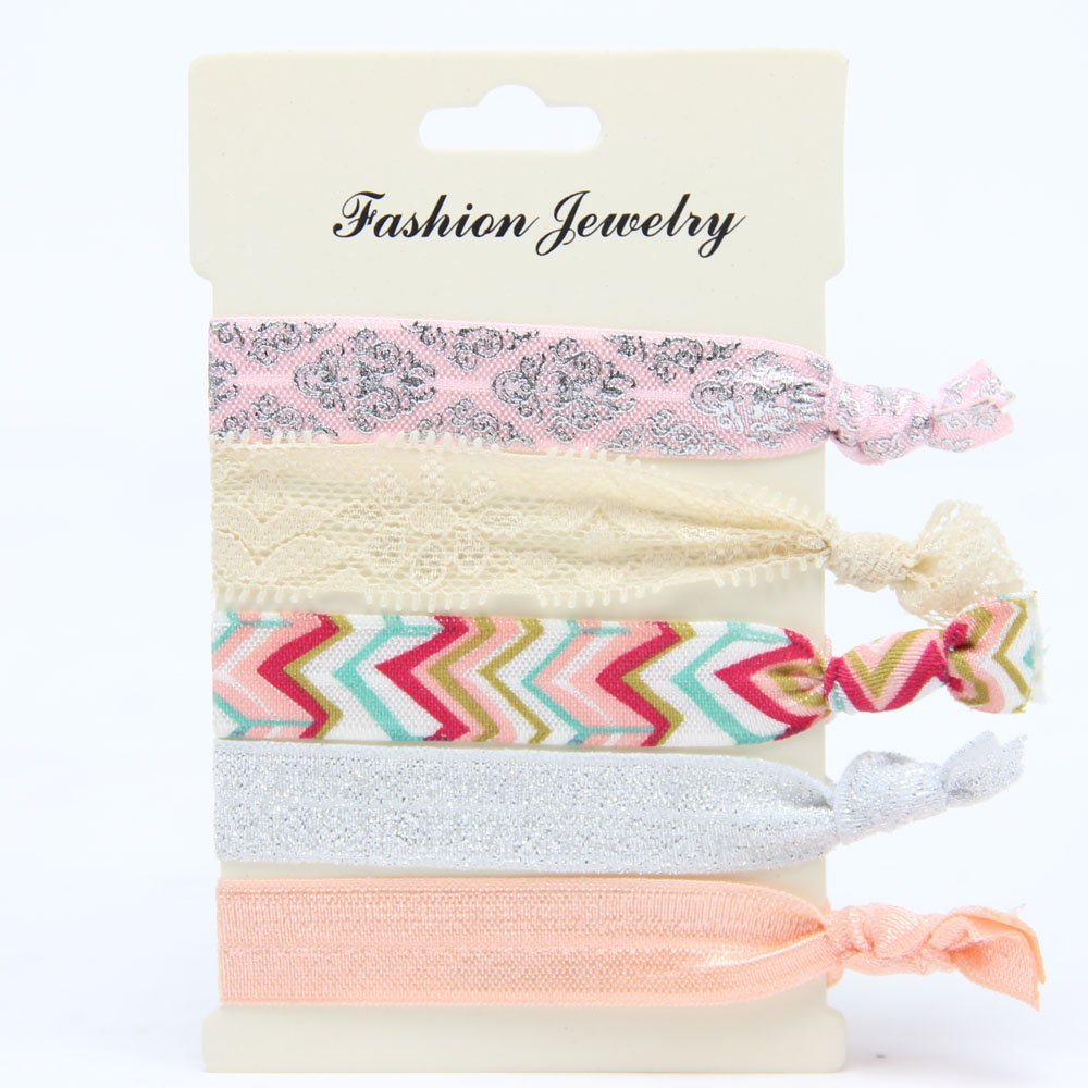 Korean Style Fashion Print Harajuku knotted Hair Rope Hair Bands Hair Accessories Style 11