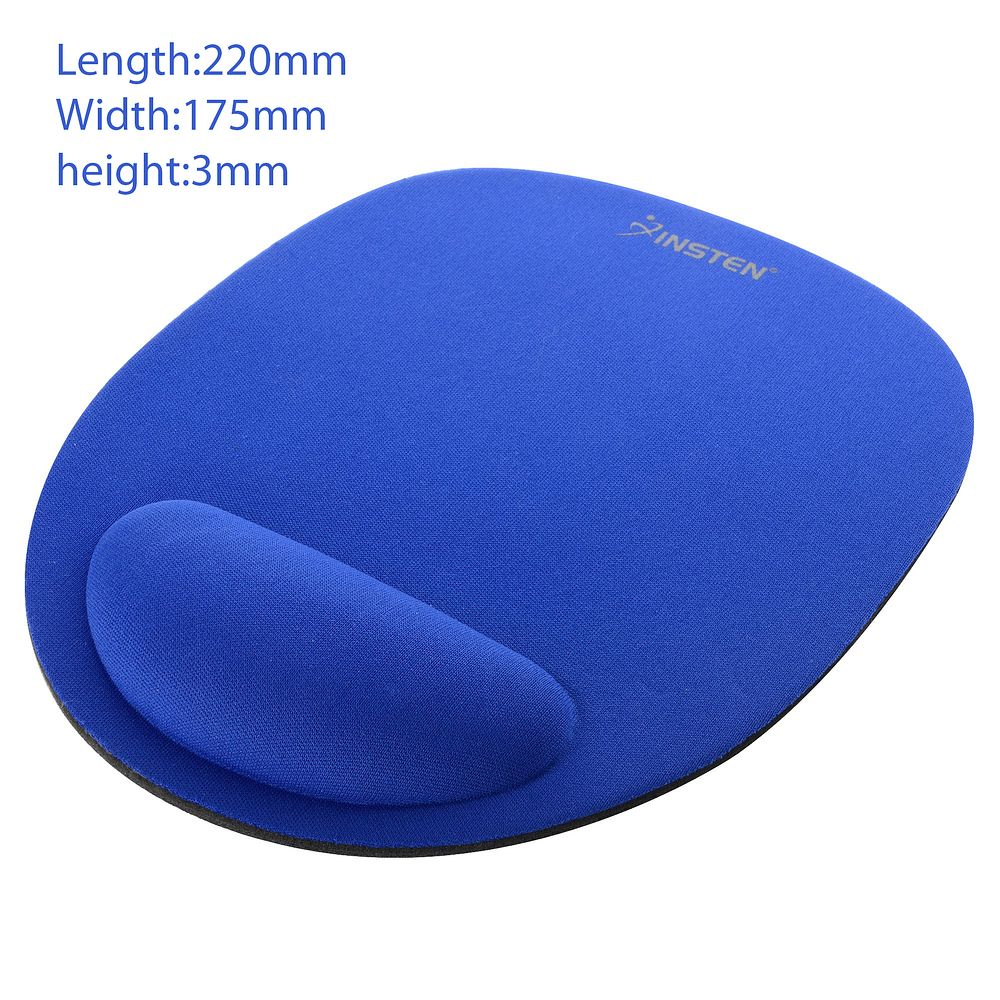 Mouse Pad with Wrist Rest Mouse Pad with Wrist Support by Insten Comfortable Mouse pad Mousepad - Blue
