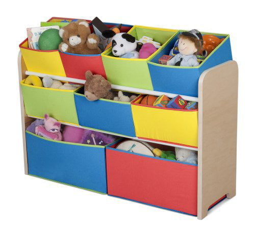 Delta Children Multi-Color Deluxe Toy Organizer with Storage Bins by