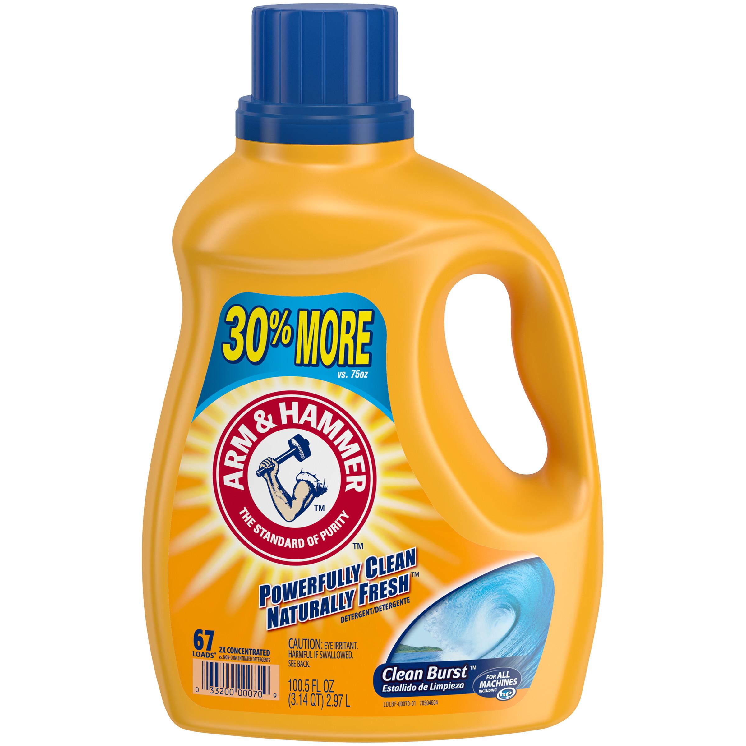 Arm & Hammer Clean Burst Liquid Laundry Detergent, 100.5 fl oz