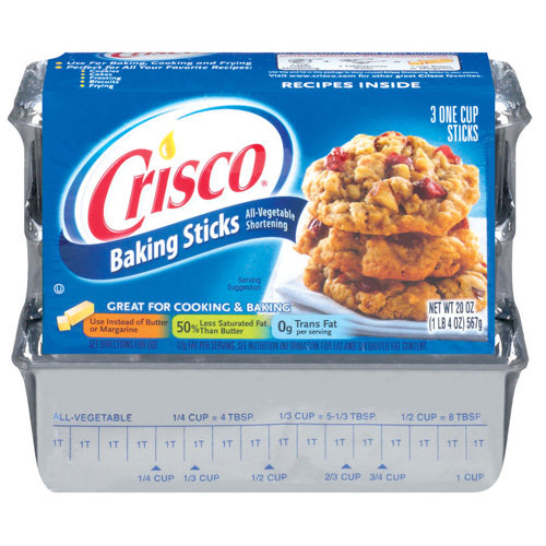 Crisco All Vegetable Shortening, 3ct