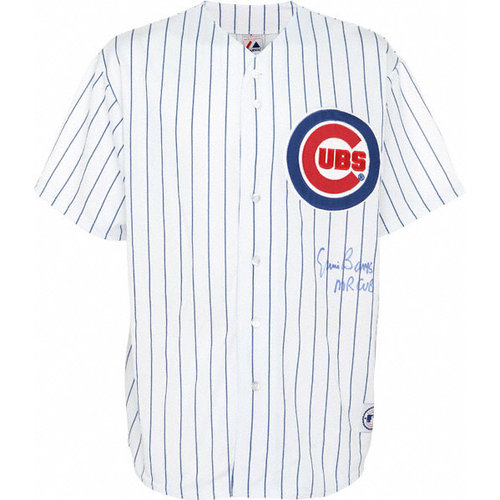 "MLB - Ernie Banks Chicago Cubs Autographed White Jersey with ""MR CUB"" Inscription"