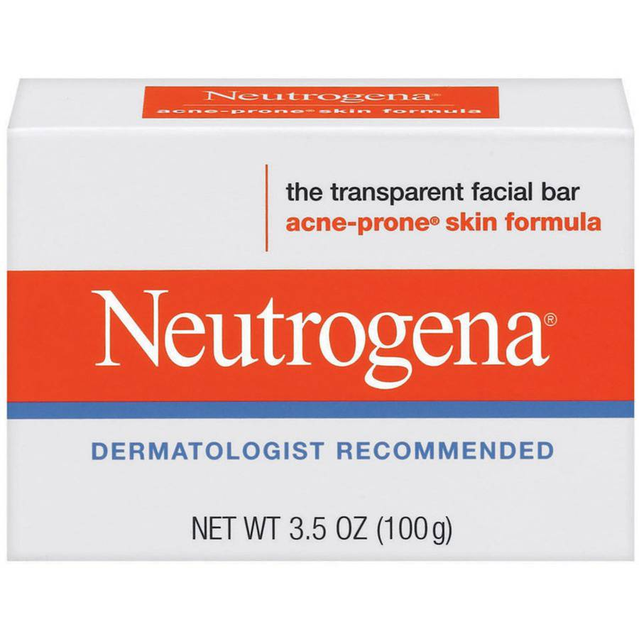 Neutrogena Facial Cleansing Bar for Acne-Prone Skin, 3.5 oz