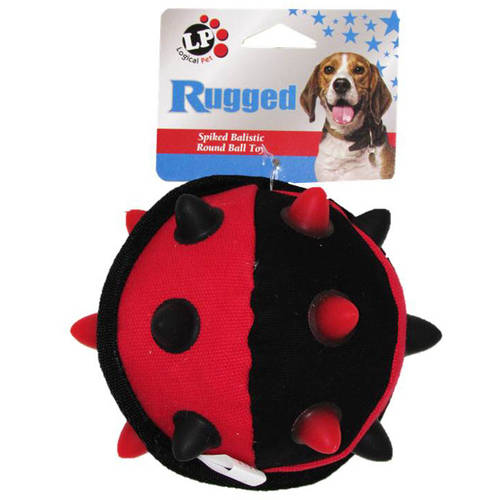 "Logical Pet Rugged Spiked Ball Dog Toy, 5"", Multicolor"