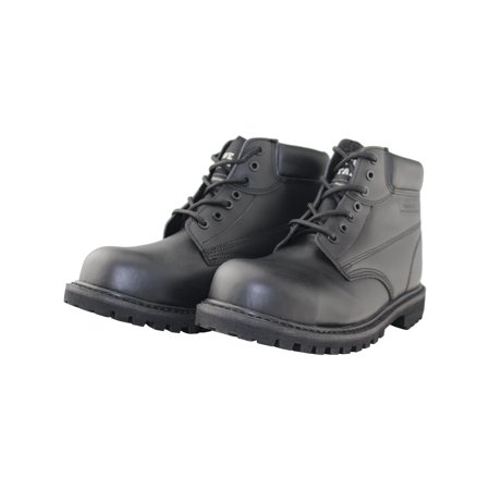 Black Work Boots For Men Waterproof Insulted Chukka Casual Safety Leather Boots for Men Boys
