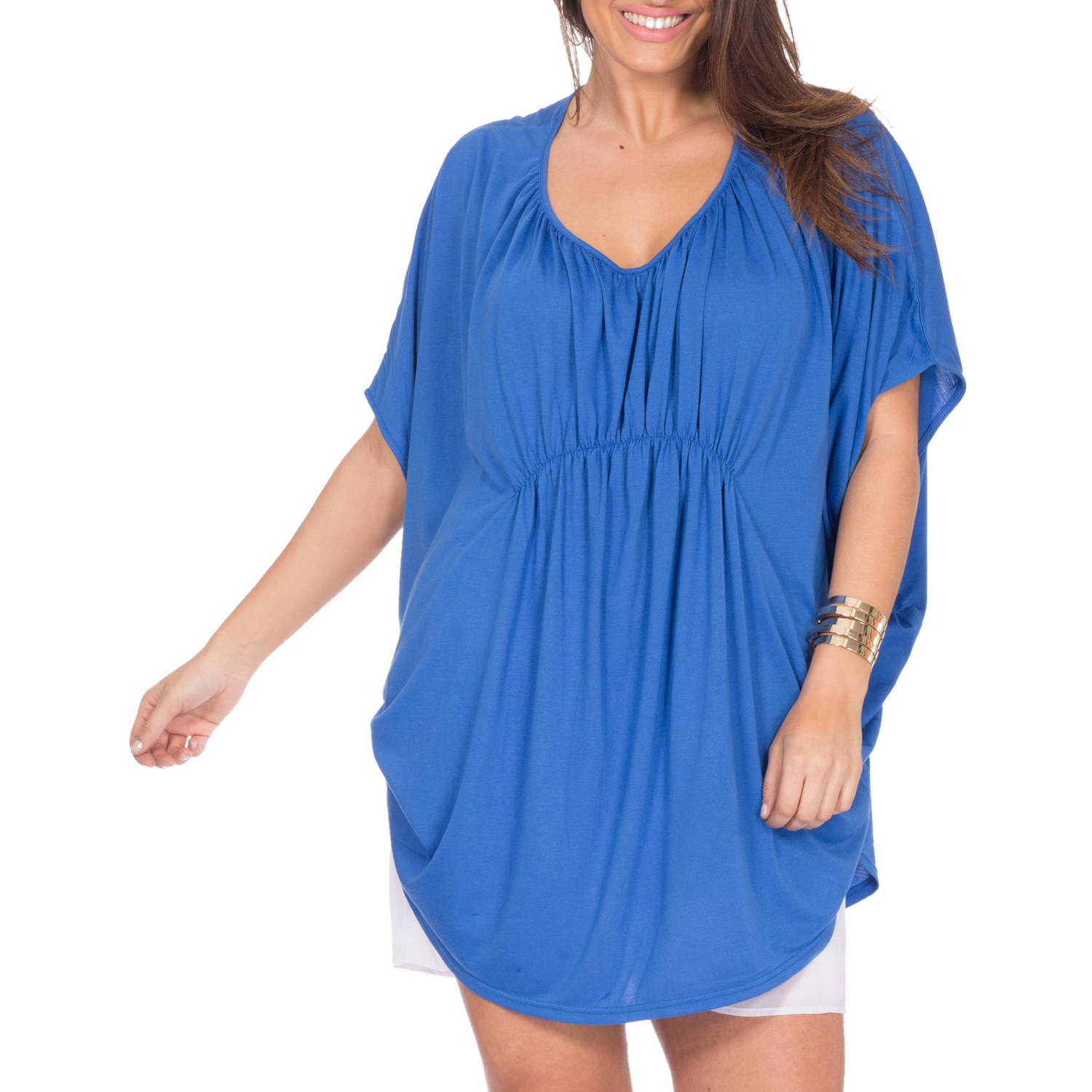 Plus Moda Women's Plus Size Kaftan Top