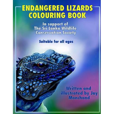 Endangered Lizards Colouring - Endangered Book