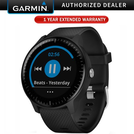 Garmin Vivoactive 3 Music GPS Smartwatch Black and Gunmetal (010-01985-01) with 1 Year Extended Warranty