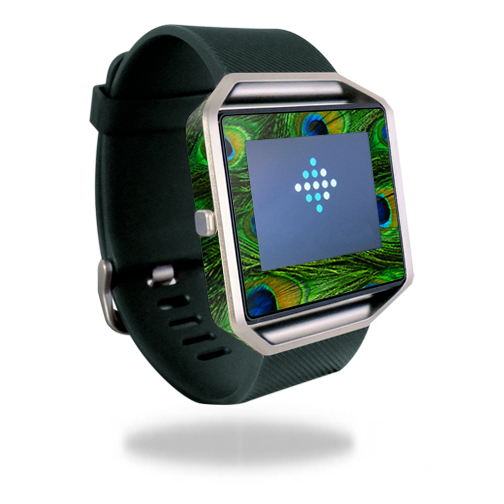 Skin Decal Wrap for Fitbit Blaze cover skins sticker watch Peacock Feathers