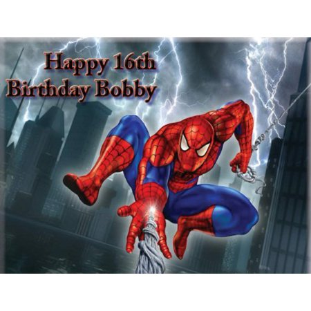 Spiderman Web Edible Icing Image Cake Topper 1 2 Sheet