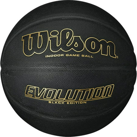 Wilson Evolution Black Edition Basketball, Official Size (29.5