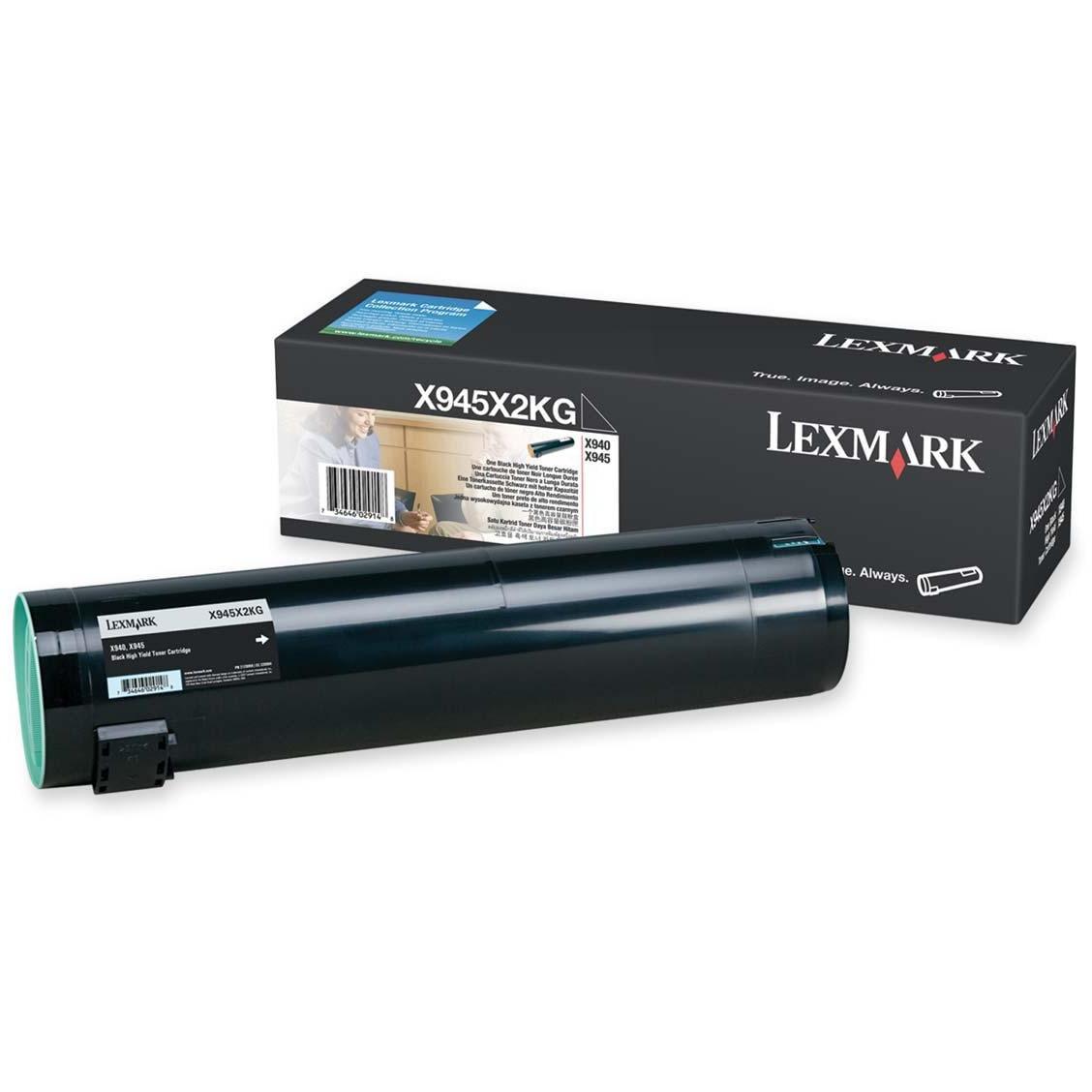Lexmark, LEXX945X2KG, X945X2CG/KG/MG/YG Toner Cartridges, 1 Each