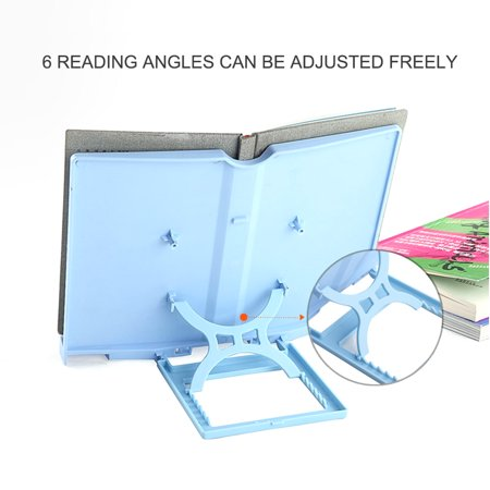 Portable Book Stand Adjustable 6 Angles Book Document Holder Foldable Bookstand Hands Free Desk Reading for Cookbook Recipe Music Book Textbook Tablet Accessories - image 6 of 7