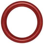 RUBBERFAB 40MPU-RZ-200 Gasket, Size 2 In, Tri-Clamp, Red Buna
