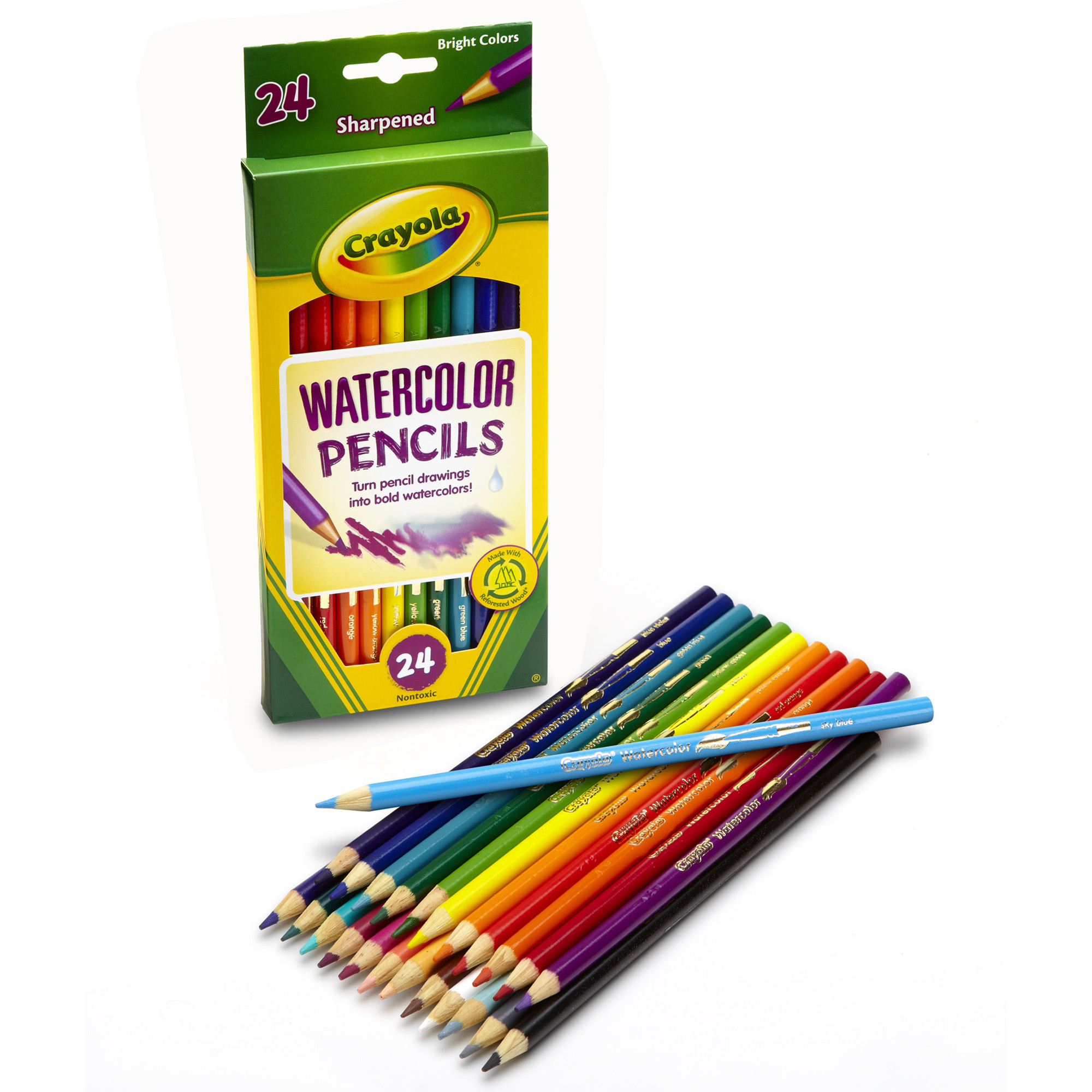 Crayola Watercolor Pencils 24 Colors Per Box Set Of 3 Boxes