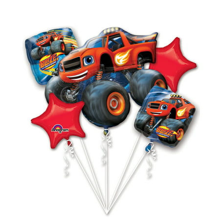 Blaze and the Monster Machines Balloon Bouquet - Party Supplies - Balloons And Parties