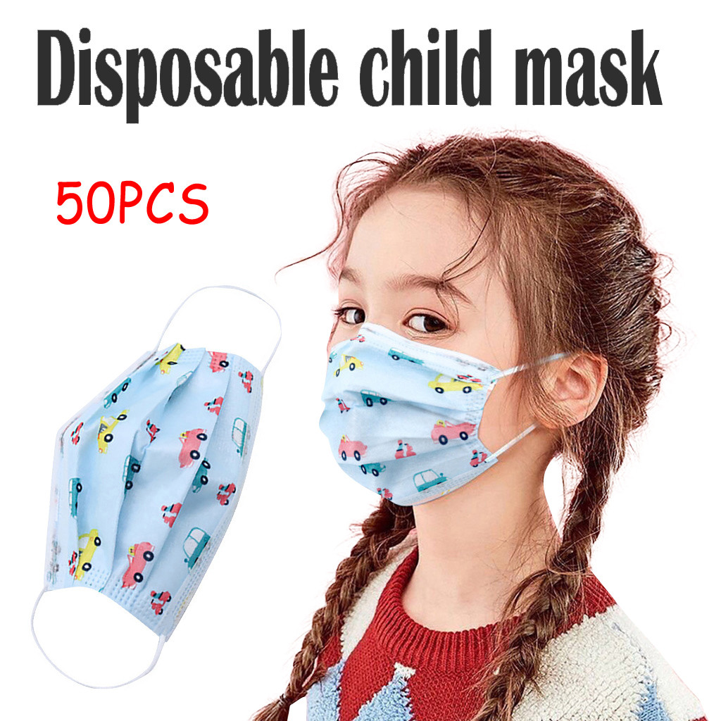 HUYURI Disposable Boy And Girl Colorful For Children 3-Layer Dustproof 30PCS