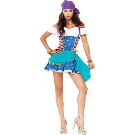 Sexy Vagabond Costume Vagabond Fortune Teller Theatre Costumes Teal](Fortune Tellers Costumes)