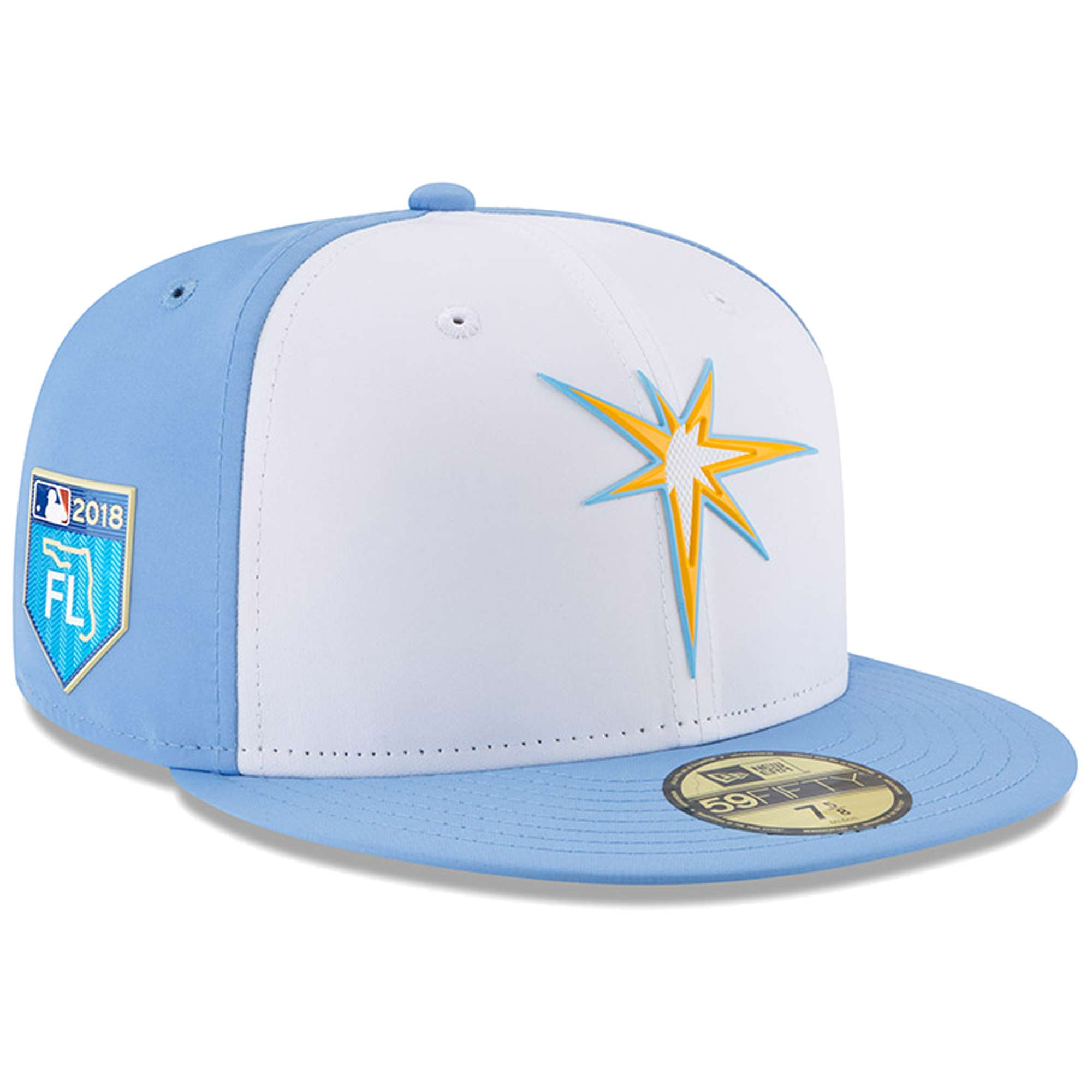 Men's New Era White Tampa Bay Rays 2018 Spring Training Collection Prolight 59FIFTY Fitted Hat