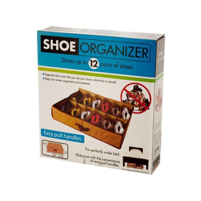 Bulk Buys OD918-12 Under Bed Shoe Organizer by Bulk Buys