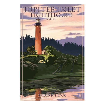 Jupiter Inlet Lighthouse - Jupiter Inlet Lighthouse - Jupiter, Florida Print Wall Art By Lantern Press