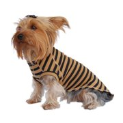 Brown/Black Soft Clothes For Pet Puppy Dogs Popular Stripe T-Shirt Tee Comfort - Small (Gift for Pet)