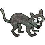 Expo Int'l Halloween Scary Cat Iron-on Applique](Scary Cats Halloween)