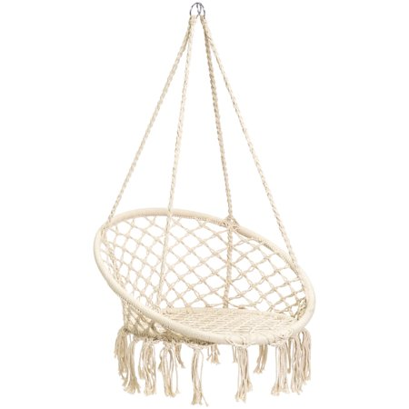 Best Choice Products Handmade Rope Hammock w/ Tassels - Beige ()