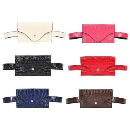 Leather Belt Bag - Womens Waist Bag Fanny Pack PU Leather Bag Belt Purse Small Purse Phone Pouch