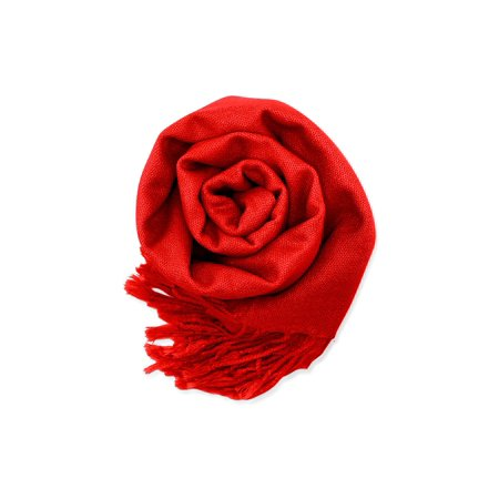 Fashion Women's Scarf Lightweight Long Scarfs Luxury Lady Classic Range Pashmina Silk Solid colors Wraps Shawl Stole Soft Warm Scarves For - Scary White Dress
