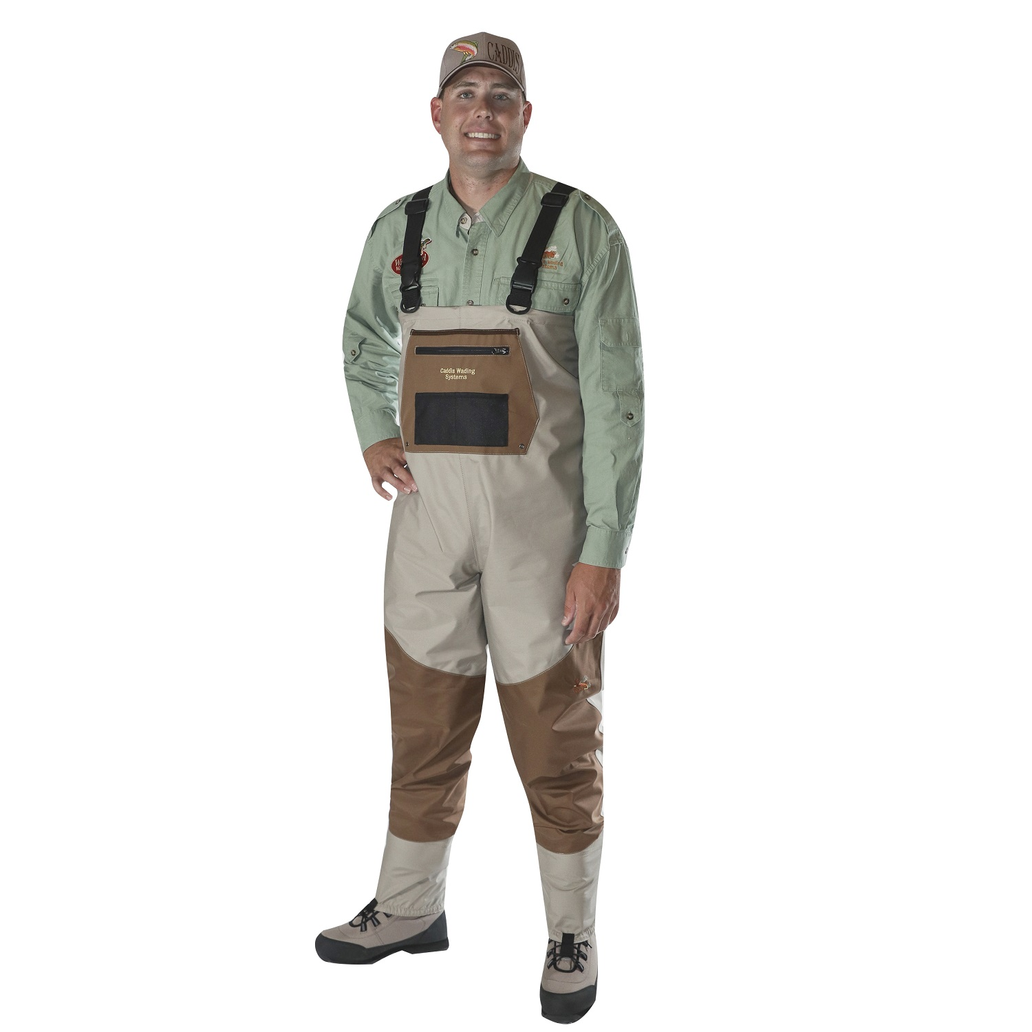 Caddis Men's Deluxe Breathable Stockingfoot Waders XXL Stout by Caddis Wading Systems