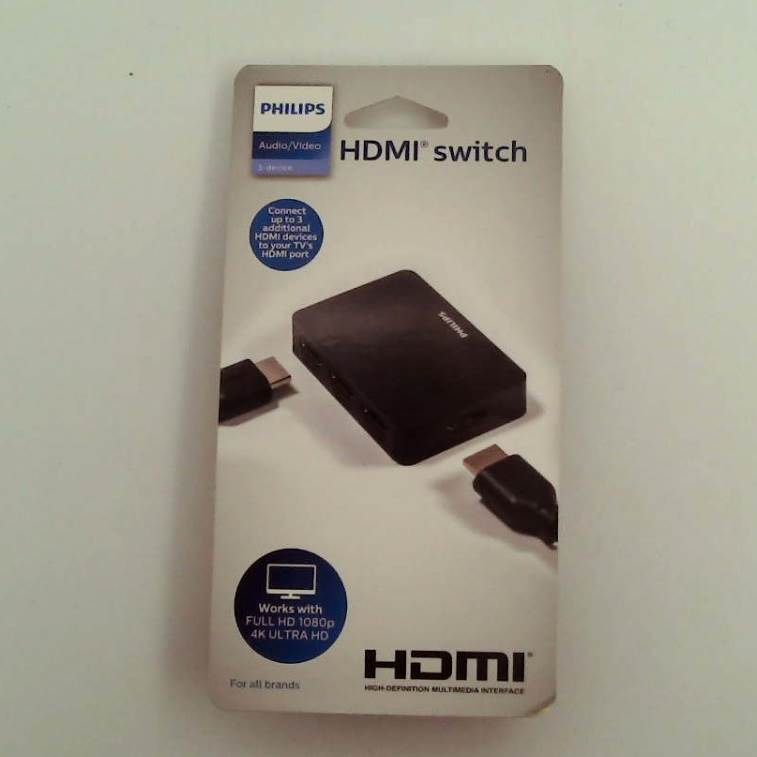 Philips 3 Port HDMI Switch - Black